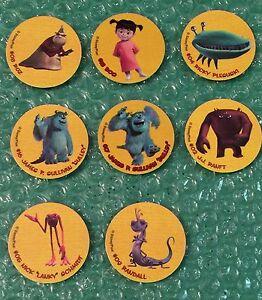 Detalles acerca de Disney-Lot of 8 Monsters Inc  Tapa de la leche de Tazos  Trading Tazos IMC- mostrar título original