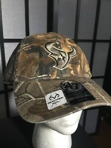 660e16baf12a5 Image is loading 039-47-NFL-Houston-Texans-Realtree-Fitted-Hat-