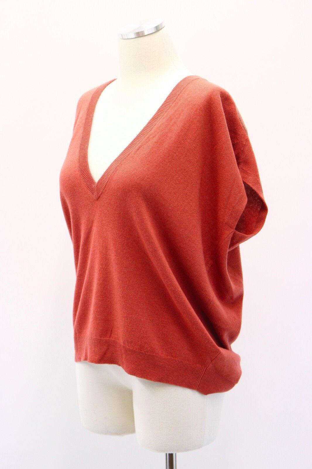 NWT  1425 Bspringaaello Cucinelli Cashmere -Silk -VWool Monili Bead tröja Vest M A181
