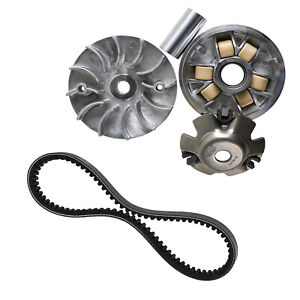 fit for GY6 125cc And 150cc 4-Stroke Engine Scooter ATV Taotao Roketa necaces Gy6 150cc clutch set,include clutch Assembly and Variator Assembly with 743 belt