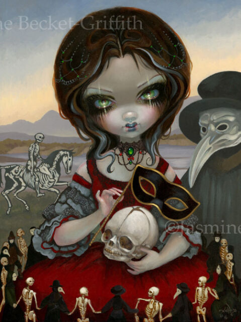 Jasmine Becket-Griffith art print death carnival fairy SIGNED Carnevale di Morte