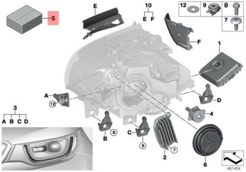 Genuine BMW i3 I12 Coupe Headlight Leveling Motor Repair Kit OEM 63117367753