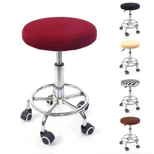 1PCS 12 Bar Stool Covers Round Chair Seat Cover Cushions Sleeve 5 Colors Dental