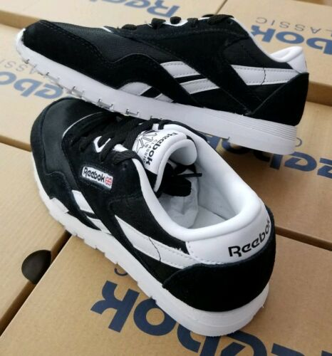REEBOK CLASSIC NYLON KIDS BLACK//WHITE J21507 PRE-SCHOOL