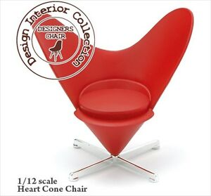 Reac Japan Design Interior Collection 1 12 Scale Miniature Chair Heart Cone Ebay