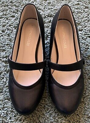 Heavenly Soles Black Leather Low Mary