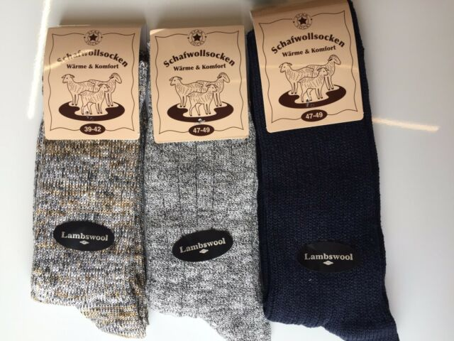 3 Pairs Mens Thick Chunky Wool Work Hiking Boot Socks Warm Size UK 6-11 BMHKF