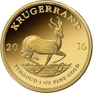 1 oz South African Gold Krugerrand Coin (Varied Year, BU)