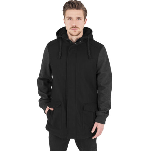 de lana Chaqueta carbón Negro capucha invierno Contraste Otoño de invierno Classics con con Urban capucha Parka XICqBI