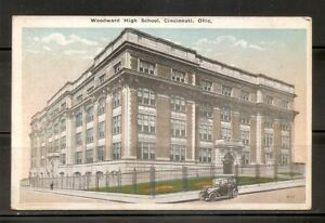 USA-Woodward-High-School-Cincinnati-Ohio-Vintage-postcard-2