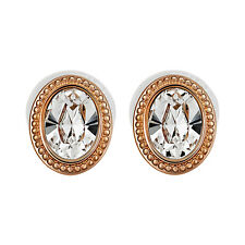 Swarovski ® Arrive 5036772 White Oval Crystal Rose Gold Plated Stud Earrings