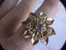 2 Cute little finger rings flower covered lucerne watch & 1 bozhi 4 parts repair