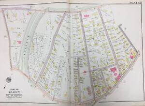 Jamaica Plain Boston Map.1905 Jamaica Plain Boston Ma Eliot Agassiz School Arborway Atlas