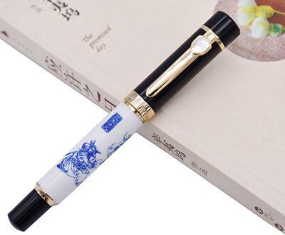 Jinhao Calligraphy Fude Bent Nib Fountain Pen Everest Painting Cermet Gift Pen