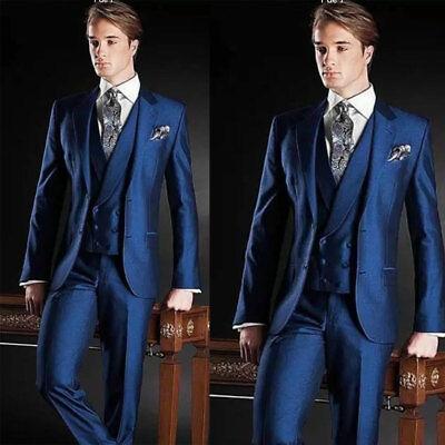 Yellow Men Linen Suits Slim Wedding Groomsman Tuxedos Summer Wear Formal 3 Pcs