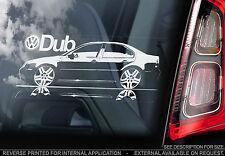 VW Bora MK4 - Car Window Sticker - Jetta Volkswagen Performance Dub MKIV Sign
