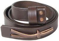 WW2 British Army LEE ENFIELD RIFLE SLING - Genuine Brown Leather Repro Gun Strap