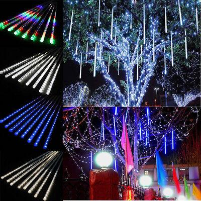 Falling Rain Drop Icicle Snow Fall String Led Cascading Tree Light Xmas Decor Ebay