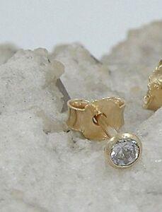ECHT-GOLD-Ohrstecker-Zirkonia-3-00-mm-333-8-Kt-gestempelt-Preis-fuer-1-Stueck