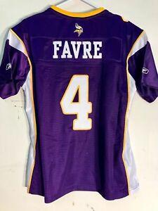 sale retailer d2925 0d1ea Reebok Women's Premier NFL Jersey Minnesota Vikings Brett Favre Purple Sz XL