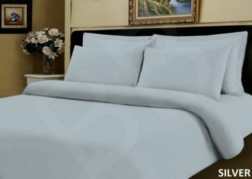 New 100/% Egyptian Cotton 400 TC Duvet Cover Bedding Bed Set White Fitted Sheet