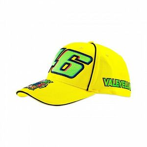 ae7400b13a2 Image is loading 2017-Official-Valentino-Rossi-VR46-Yellow-46-Cap-