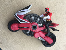 Power rangers super samurai red disc cycle and red ranger figure