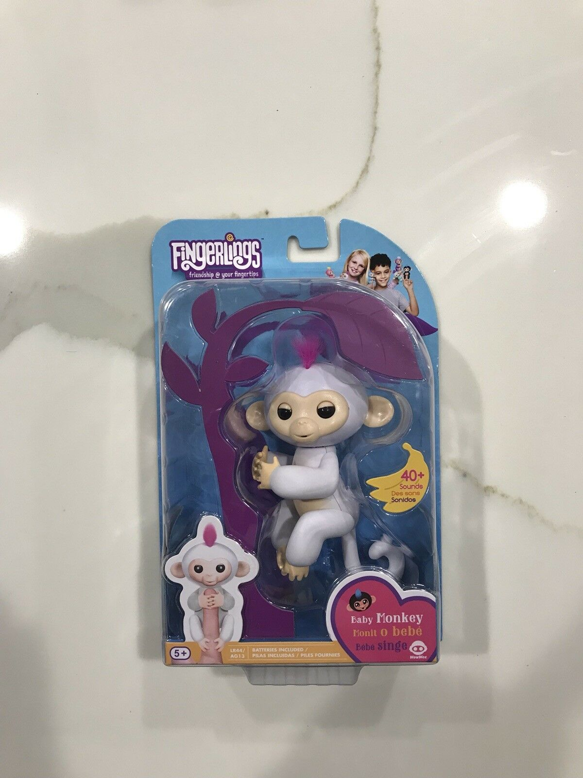 Fingerlings Baby Monkey Sophie White New