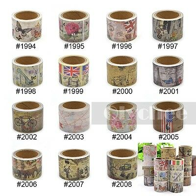3cm Width Washi Tape DIY Decor Sticky Stationery Adhesive Sticker Free Shipping