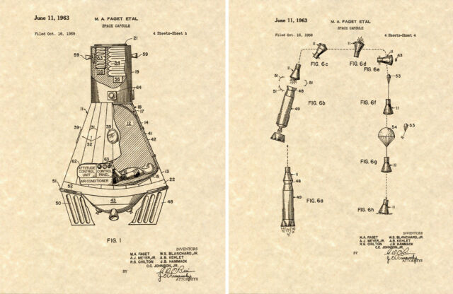 Mercury Space Capsule Patent Art Print Ready To Frame Nasa Moon. Mercury Space Capsule Patent Art Print Ready To Frame Nasa Moon Launch. Mercury. Nasa Mercury Diagram At Scoala.co