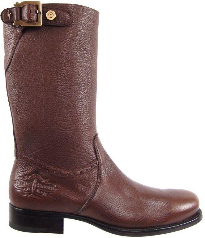 Authentic Cesare Paciotti US 9.5 Deer Skin Leather stivali Italian Designer scarpe