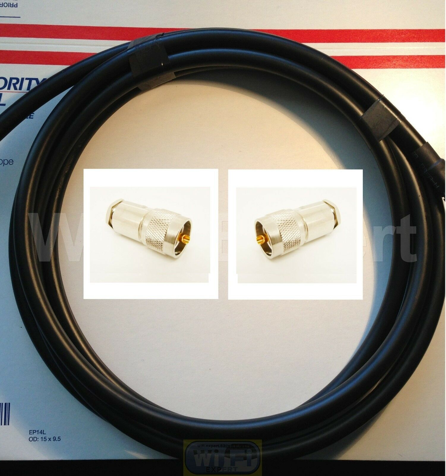 TIMES ®  9/' LMR400UF Antenna Jumper Patch Coax Cable PL-259 Cnctrs CB HAM RF GPS