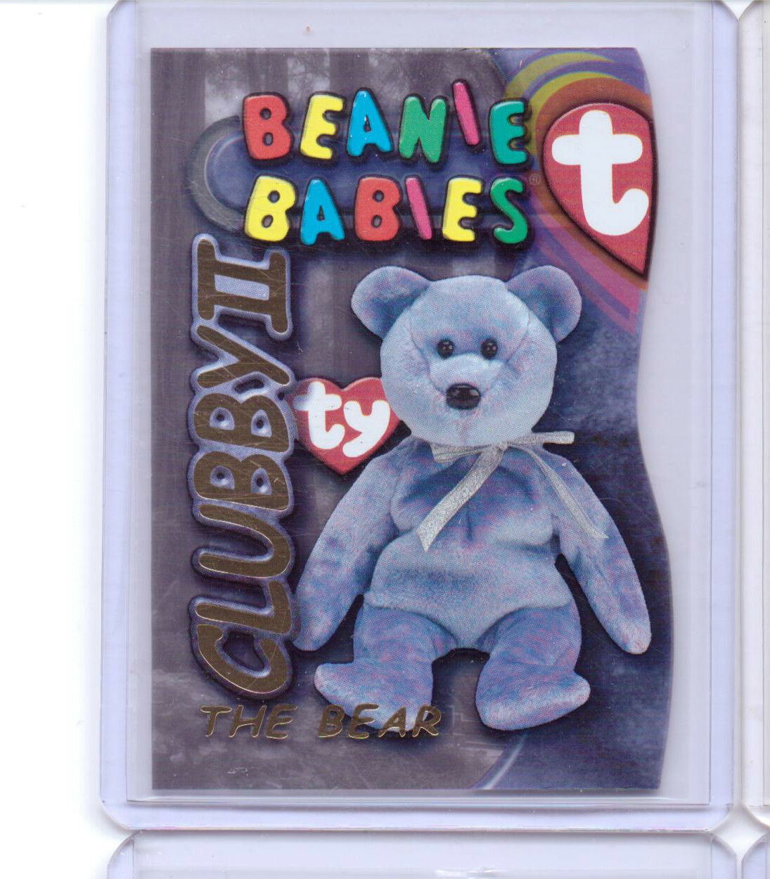 1999 TY BEANIE S3 gold  CARD INSERT CLUBBY THE BEAR II BABIES SIDE