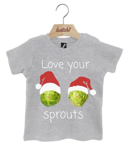 Lote 1 brotes de Navidad Santa Sombrero encanta tu Navidad Popper Cuello Camiseta Bebé
