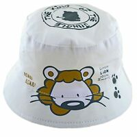 Baby Sun Hat Cotton Summer Boonie Bush Bucket Beach Hat Boys Girls Lion 6-24 M