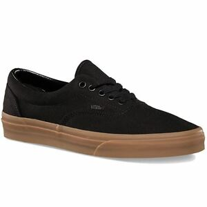 0463851b9bd Vans ERA Mens Black Classic Gum 0W3CDUM Canvas Lace Up Low Top ...