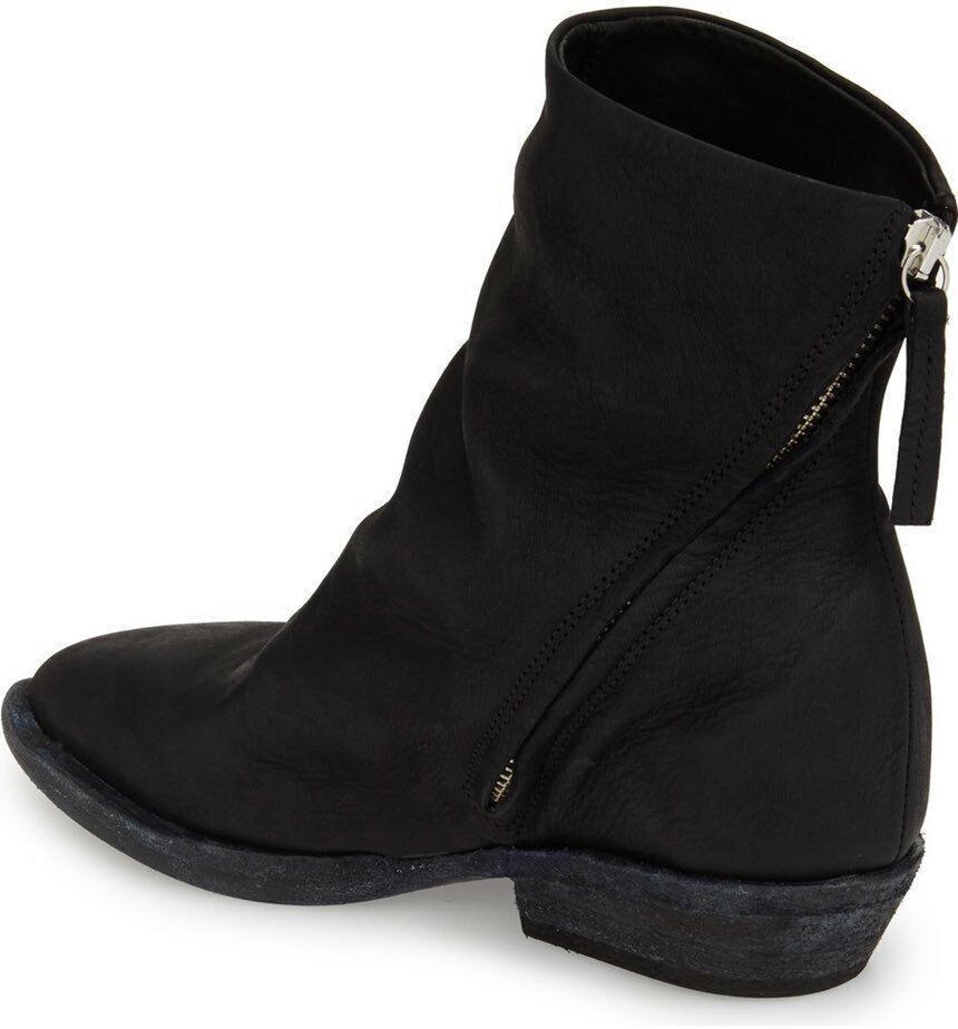 CA By Cinzia Araia asymmetrical side zip Black Ankle Boots sz 40