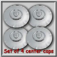 Set 4 Of Chrome Cadillac Srx 18 Wheel Center Caps 2011-2012 Replica Hubcaps