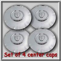 Set 4 Of Chrome Cadillac Srx 18 Wheel Center Caps 2011-2012 Replica Hubcaps