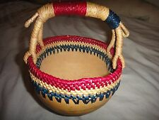Ghana Bolga African Weave Basket Pot