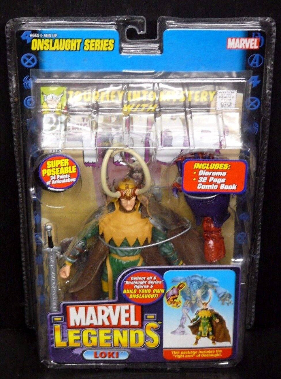 Marvel Legends Onslaught Series LOKI New  (Avengers Thor Spider-Man)
