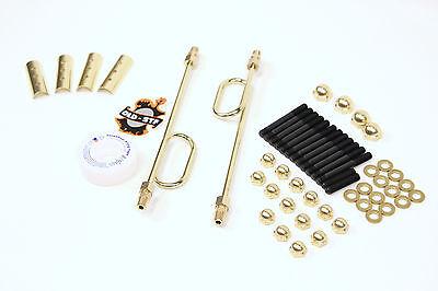Cadmium engine hardware case kit for XL Sportster 1977-1990