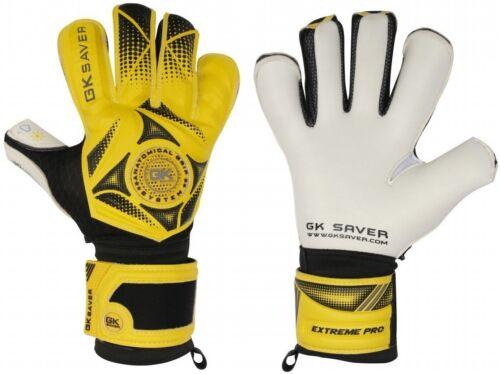 Football Gardien de but négative COUPE GK Saver 3D Win jaune hybride Top Pro Gants