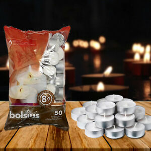 Bolsius-Tealights-8-Hour-Burn-Time-High-Quality-White-Parrifin-Wax-Candles