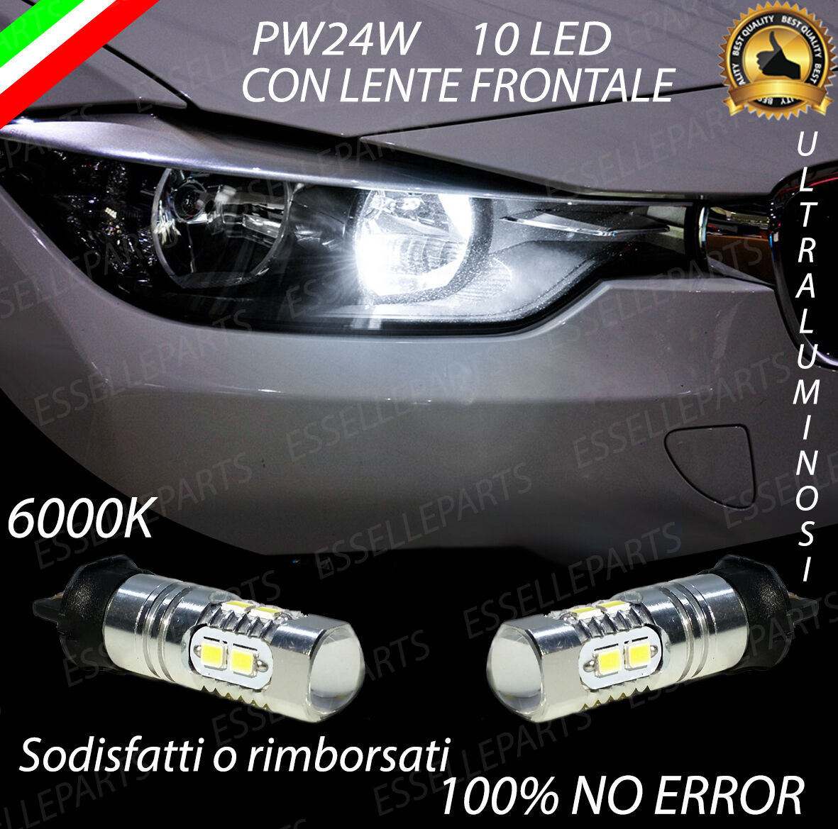 Kit lampade luci LED BMW Serie 3 F30 F31 CANBUS NO ERROR H7 C6 7600LM 36w 6000k