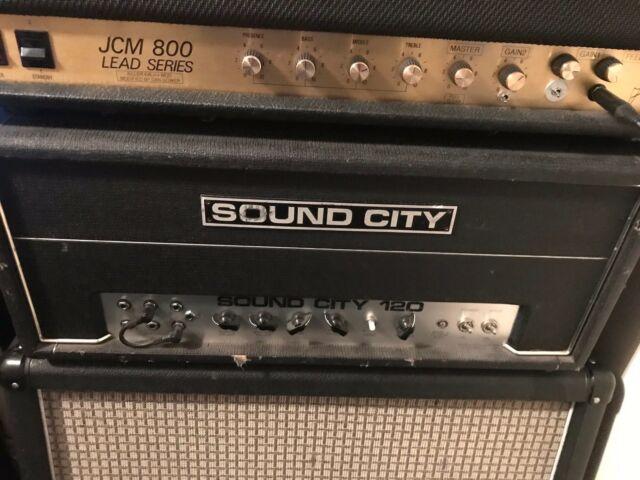 Vintage 1970's SOUND CITY L120 Valve Amplifer Guitar Bass Tube Amp Hiwatt