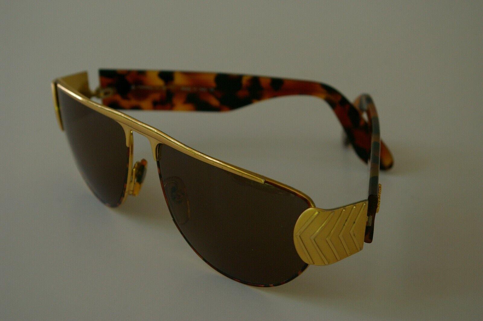 Egon Von Furstenberg Sunglasses MF52 Gold & Tortoise Shell Aviator Vintage Italy