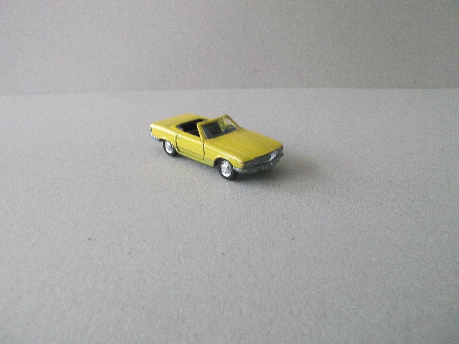 Schuco 1 66 mercedes 350 sl cabrio, nº 301844, giallo, rara vez