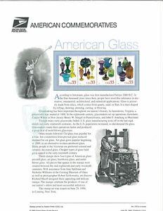 USPS-COMMEMORATIVE-PANEL-576-AMERICAN-GLASS-3325-3328
