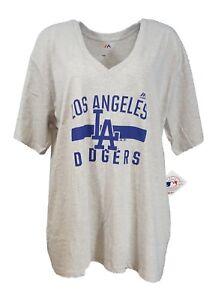Los Angeles Dodgers Majestic MLB V Neck T Shirt, Womens Plus
